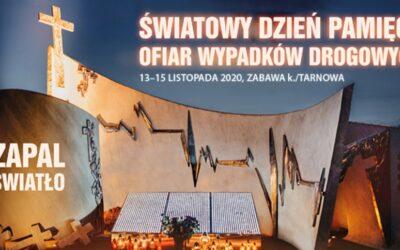 15 listopada –  Światowy Dzień Pamięci o Ofiarach Wypadków Drogowych